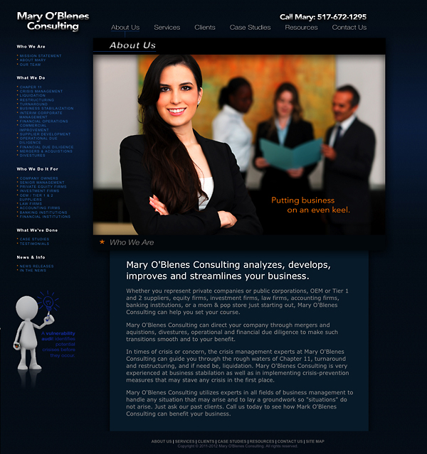 John gnotek business to business websites mary o for Consulting website